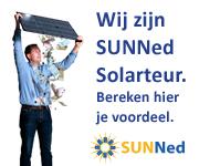 Wij zijn SUNNed solarteur. Bereken je voordeel