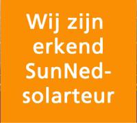 Wij zijn erkend SunNed-solarteur